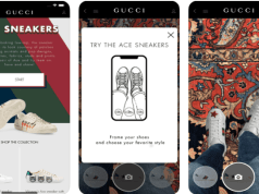 Gucci introduces AR feature on its app