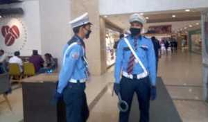 Security at a mall in Noida