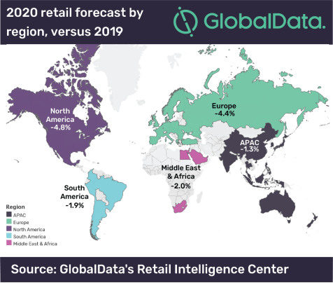 COVID-19 will cause global retail spend to fall by US$ 549.7bn in 2020, says GlobalData
