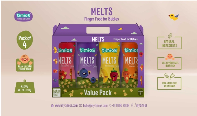 Timios launches new variants of children's finger food 'Timios Melts'