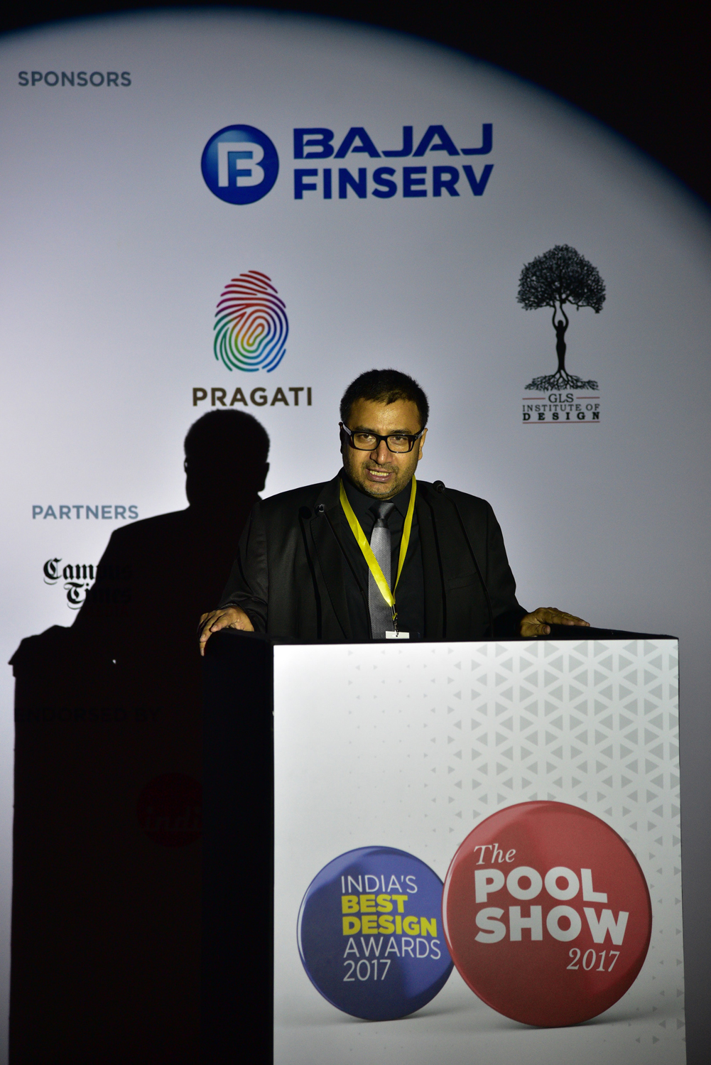 Sudhir Sharma, Editor-in-chief of the POOL Magazine, introducing the event, The POOL Show 2017.