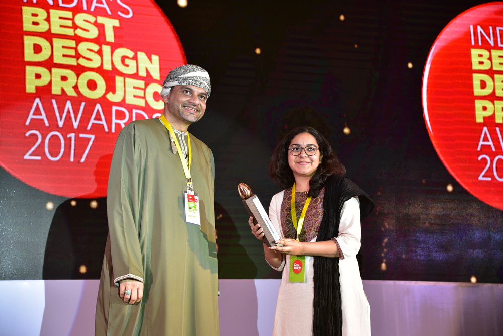Archohm Consultants receiving 'India's Best Design Project 2017' Award from Hussain Al Lawati