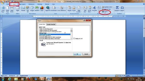 equation editor for office 2010