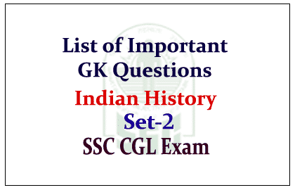 History GK Questions 1231-1270 Download Free PDF