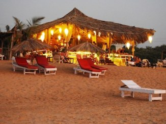 Goa shack on beach