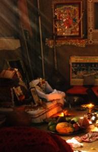 worship of Devi at Navaratri