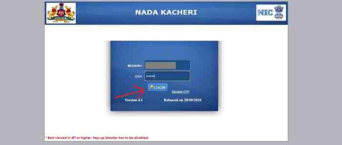 Nada Kacheri Login