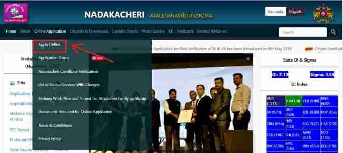 Nadakacheri Online Application