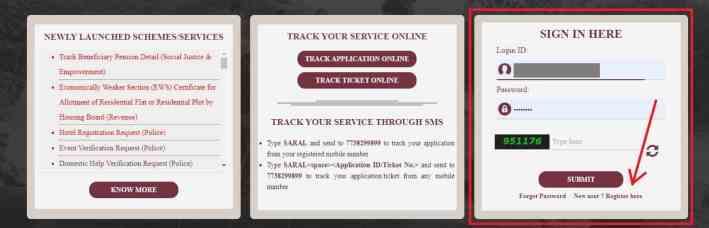 Saral Haryana Portal Registration