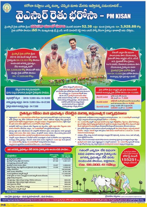 Ysr rythu bharosa News