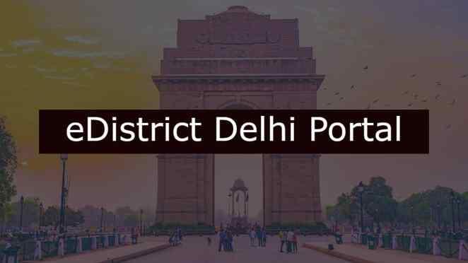 eDistrict Delhi Portal