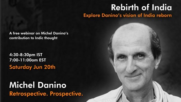 Webinar on Rebirth of India by Michel Danino