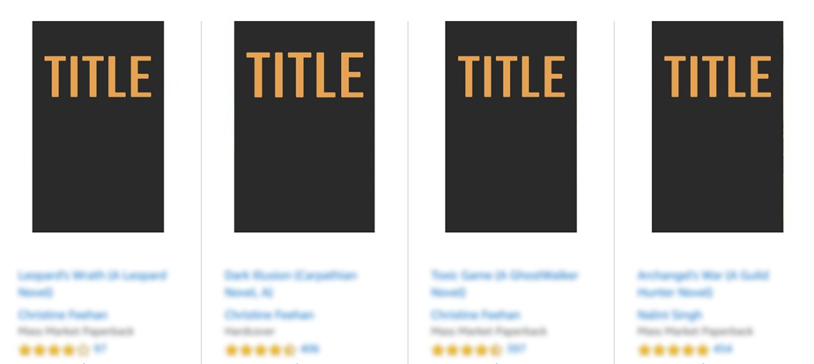 Kindle Store ebook cover thumbnails