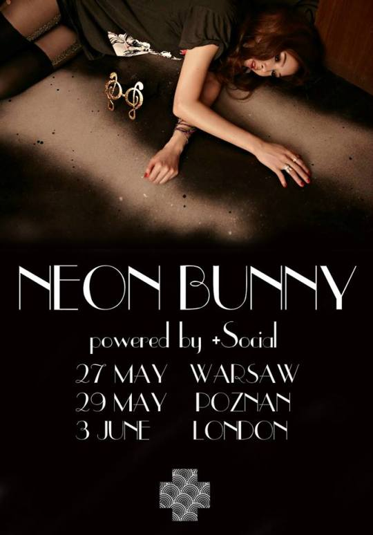 Poster for Neon Bunny's 2016 Europe tour