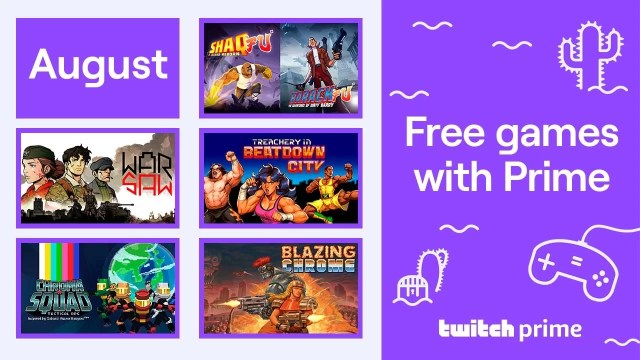 Free games with Twitch Prime for August 2020