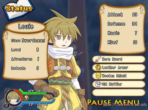 Recettear Character Stats screenshot003