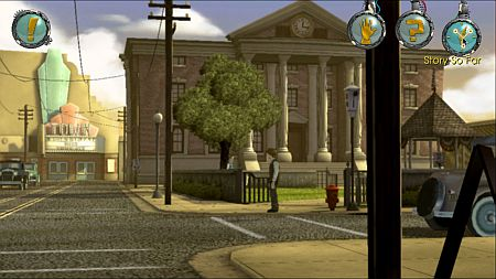 back to the future screenshot - navigating town