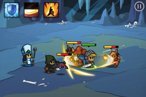 battleheart screenshot - clustered characters