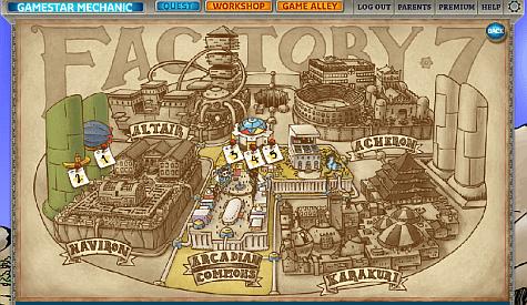 gamestar mechanic - quest selection screen