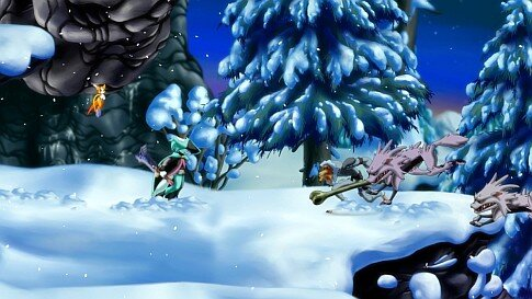 Dust:  An Elysian Tail - screenshot wolves in combat
