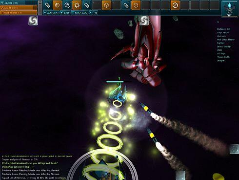 Star_Sonata 2 screenshot - Absentis-and-missiles