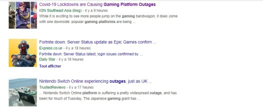 Video Game Platforms down
