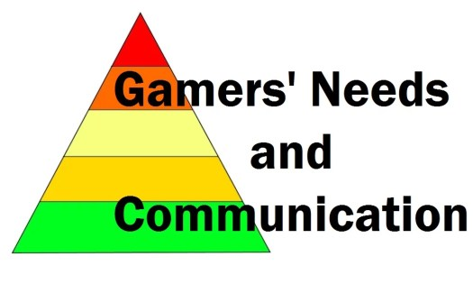 Maslow's hierarchy of Needs of Gamers