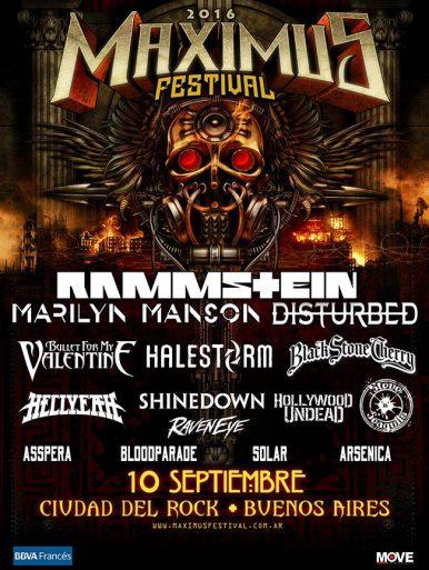 Rammstein Marilyn Manson Y Ms En El Maximus Festival Buenos Aires 2016