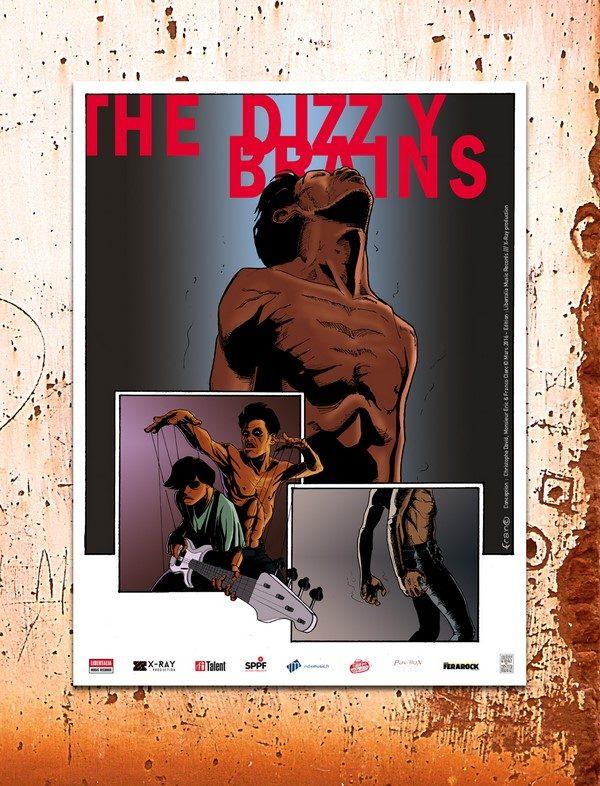 L'affiche de la tournée des Dizzy Brains