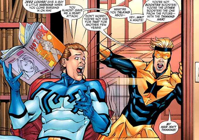 Image result for booster gold and blue beetle
