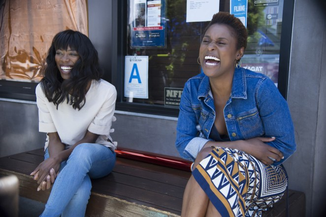 """Yvonne Orji and Issa Rae in HBO's """"Insecure"""""""