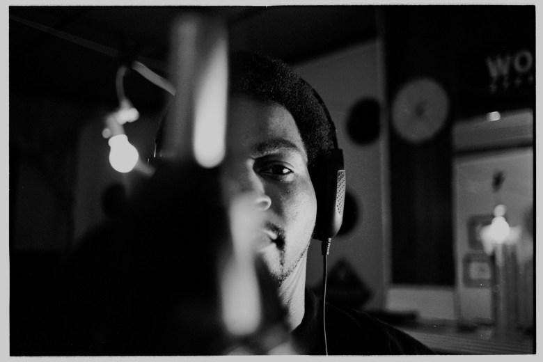 Quest in his recording studio