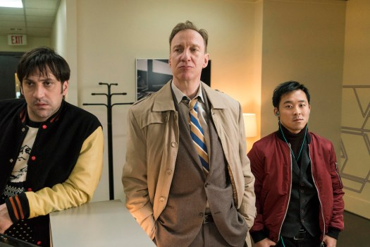 FARGO Year 3 Goran Bogdan as Yuri Gurka, David Thewlis as V.M. Vargas, Andy Yu as Meemo. CR: Chris Large/FX