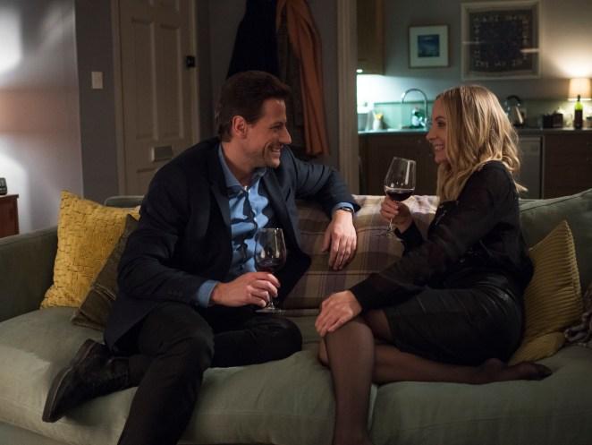 Ioan Gruffudd as Andrew Earlham, Joanne Froggatt as Laura Nielson- Liar _ Season 1, Episode 1 - Photo Credit: Two Brothers Pictures/ITV/SundanceTV