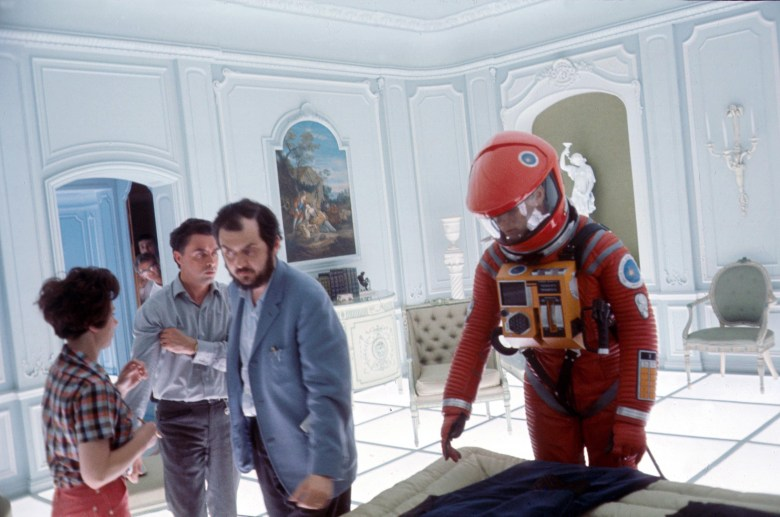 """Stanley Kubrick on the set of """"2001: A Space Odyssey"""""""