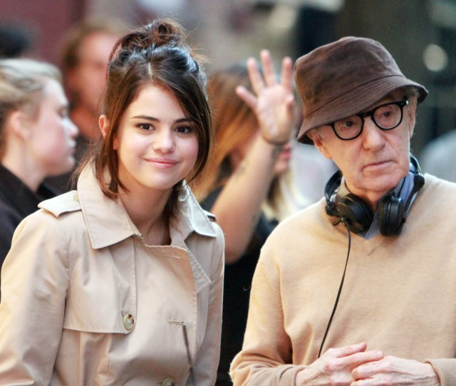 Selena Gomez Woody Allenuntitled Woody Allen Project On Set Filming New