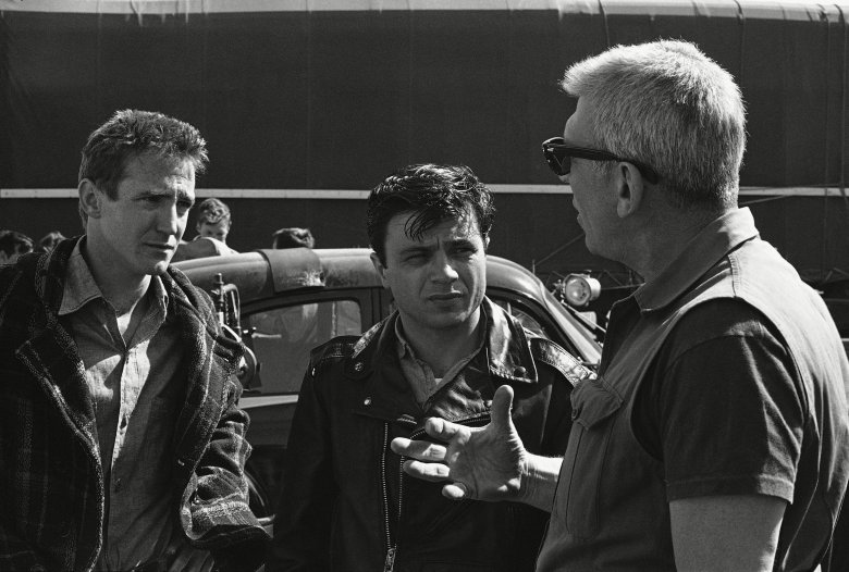"Robert Blake, Richard Brooks, Scott Wilson At right, director Richard Brooks, makes a point while talking to movie actors Scott Wilson, left, and Robert Blake, center, during filming of the adaptation of the book, ""In Cold Blood"", Kansas City, Kan. Wilson portrays the character, Eugene Hickock and Blake plays the part of Perry Smith, the two who murdered the Clutter family in western Kansas. In real life, Smith and Hickock were executed for the killings after their trial at Garden City, KanRobert Blake 1967, Kansas City, USA"
