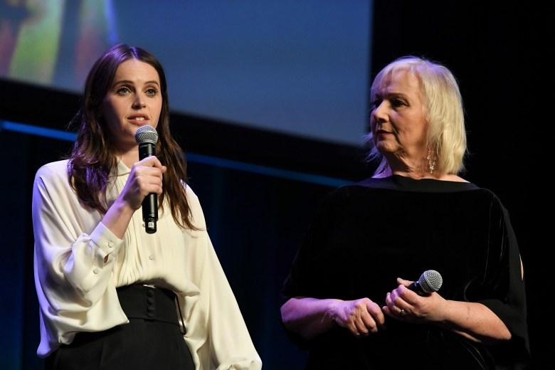 Felicity Jones and Mimi LederFocus Features presentation, CinemaCon, Las Vegas, USA - 25 Apr 2018