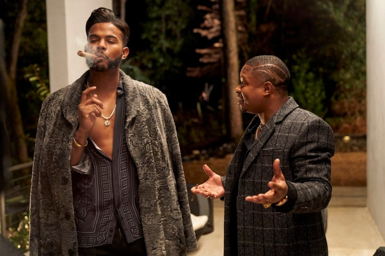 Trevor Jackson and Jason Mitchell in SUPERFLY.