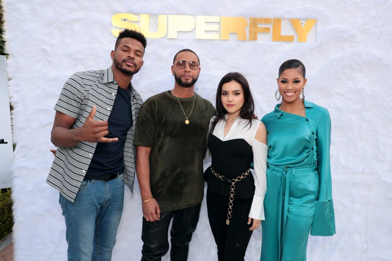 Trevor Jackson, Lex Scott Davis, Director X., Director, and Andrea Londo seen at Columbia Pictures 'Superfly' special screening at Sony Pictures Studios, Culver City, CAColumbia Pictures 'Superfly' special screening at Sony Pictures Studios, Culver City, CA, USA - 10 June 2018