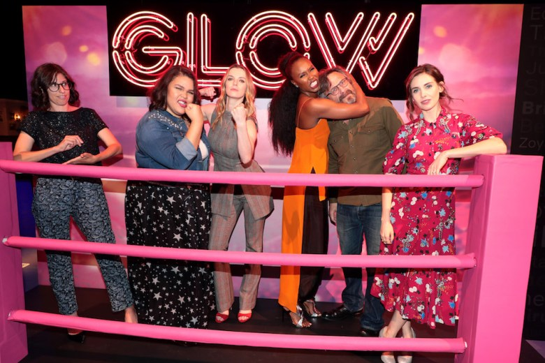 Carly Mensch, Showrunner/Co-creator, Britney Young, Betty Gilpin, Sydelle Noel, Marc Maron, Alison BrieNetflix FYSEE GLOW Panel, Los Angeles, CA, USA - 30 May 2018