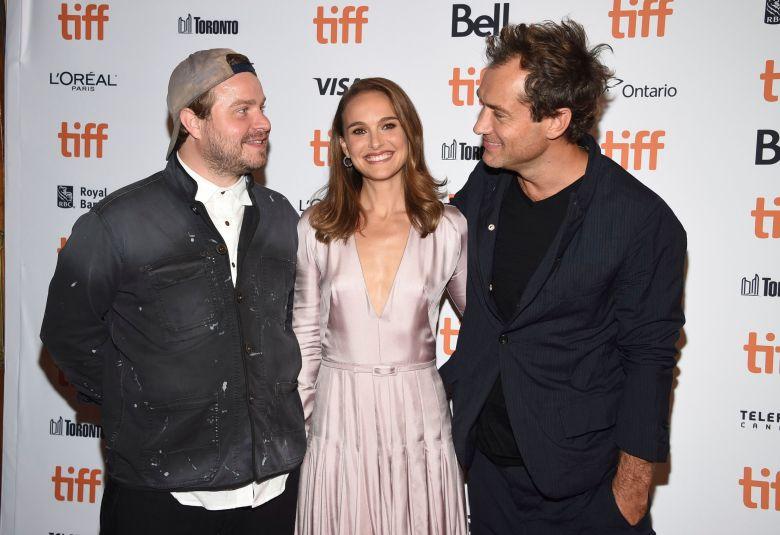 "Brady Corbet, Natalie Portman, Jude Law. Brady Corbet, from left, Natalie Portman and Jude Law attend a screening for ""Vox Lux"" on day 2 of the Toronto International Film Festival at Elgin Theatre, in Toronto2018 TIFF - ""Vox Lux"" Screening, Toronto, Canada - 07 Sep 2018"