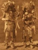 Zuni dancers: detail of photograph by Edward Curtis: 1914, [public domain]