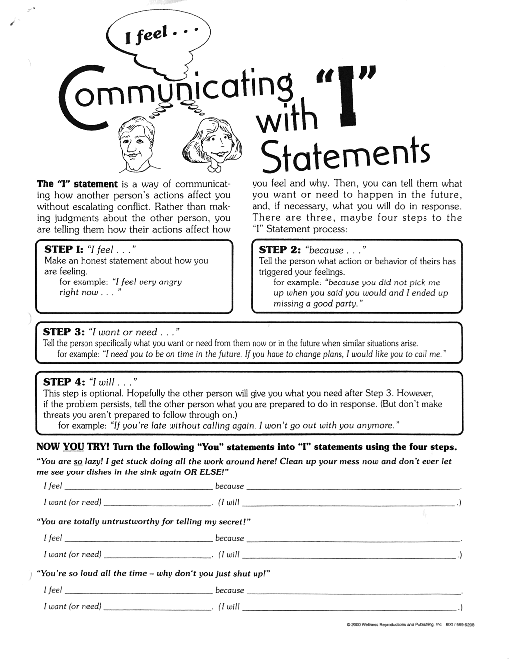 Suicidal Ideation Worksheets