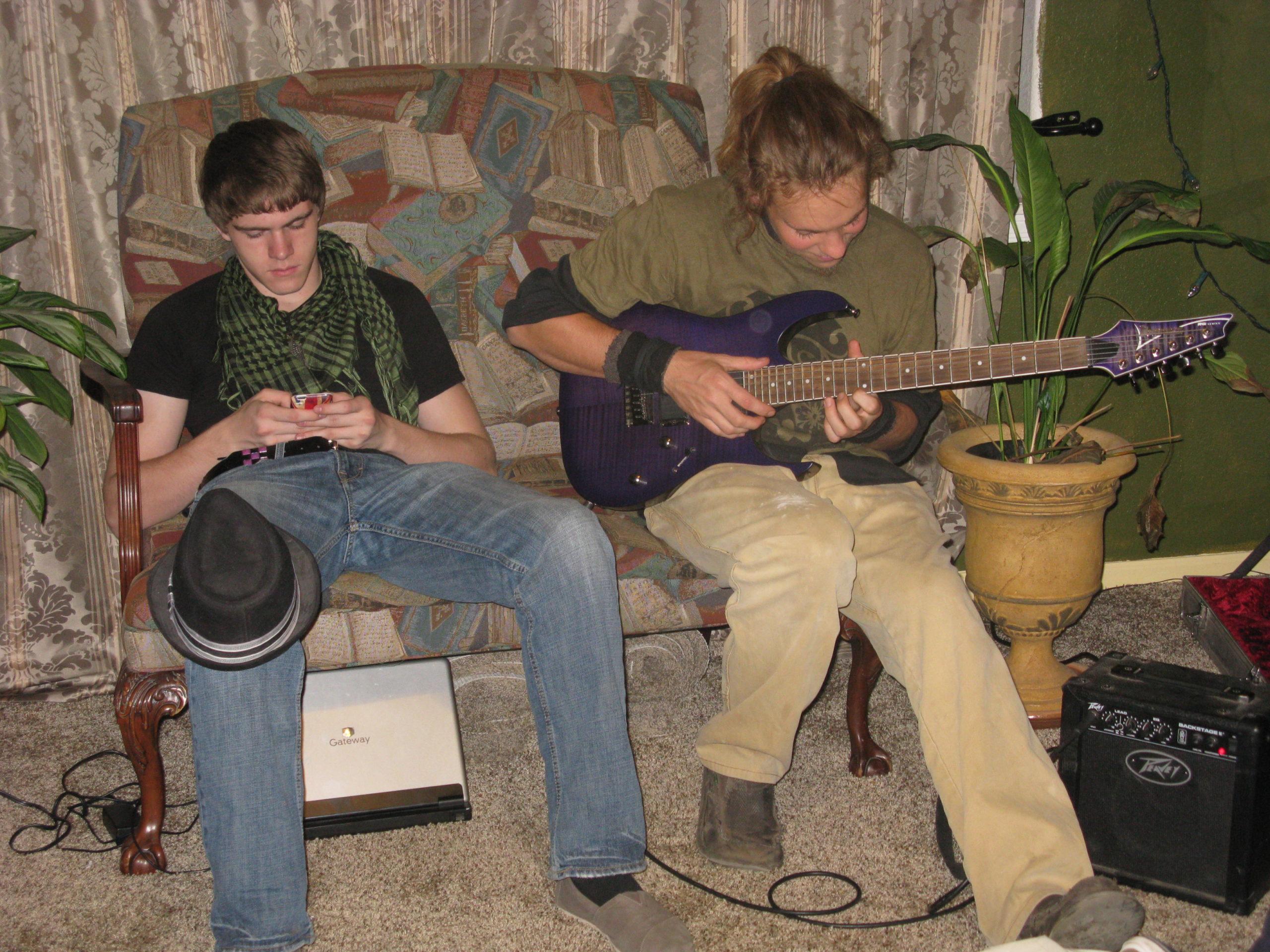 Daniel playing guitar