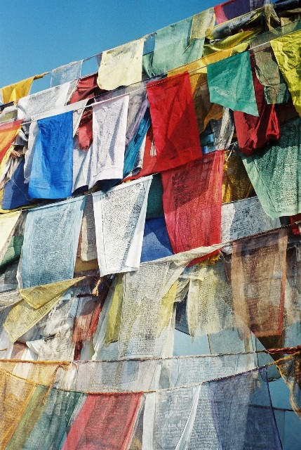 Bandiere tibetane di preghiera