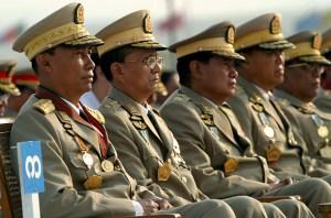 I generali della Giunta birmana