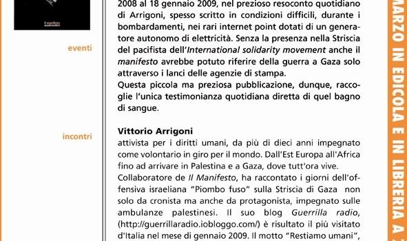 """Il libro: """"Gaza, Restiamo Umani"""". Vittorio Arrigoni racconta l'operazione 'piombo fuso' dalla Striscia"""