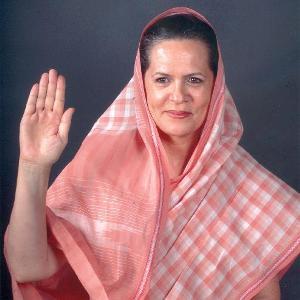 Sonia Gandhi, presidente del Congress Party