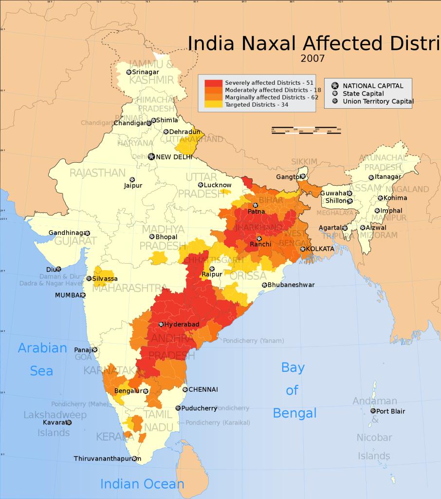 Il Corridoio Rosso nell'India Centrale. Fonte Wikipedia